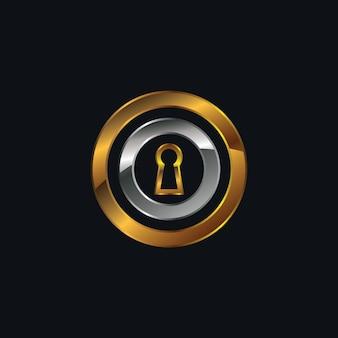 Design del logo buco della serratura