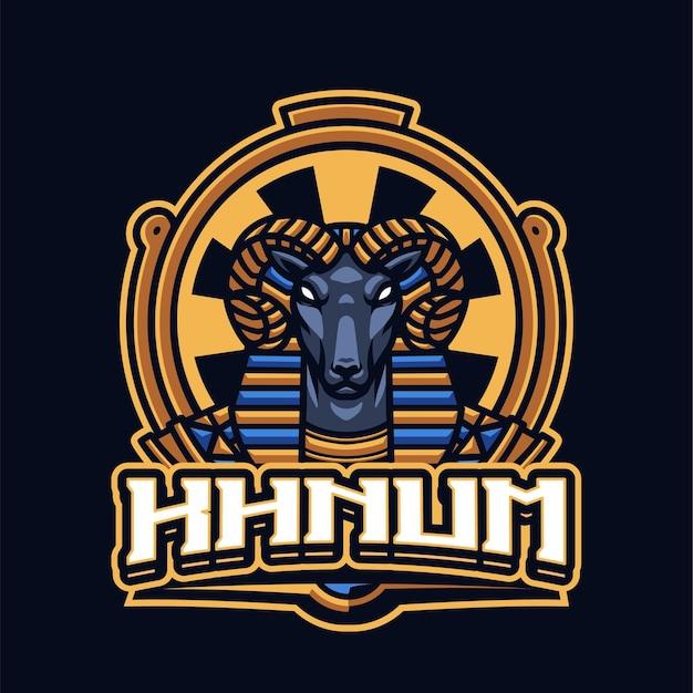 Modello di logo mascotte khnum