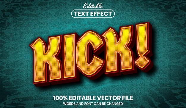 Testo kick, effetto testo modificabile in stile carattere