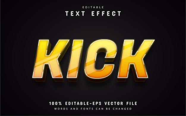 Calcio di testo, effetto di testo 3d giallo