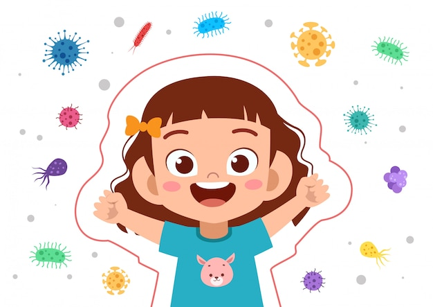 Sistema immunitario per bambini ragazza