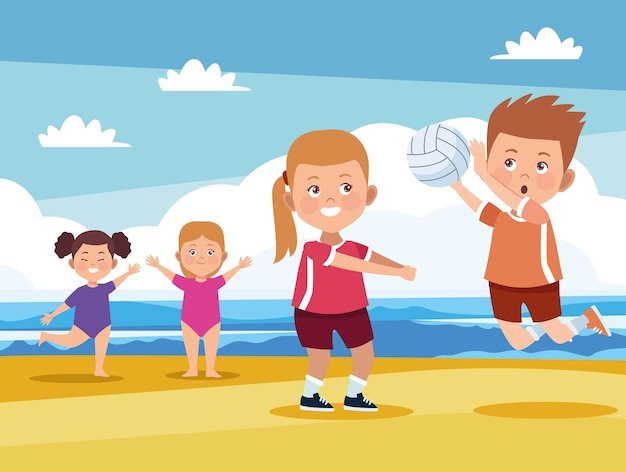 Attività per bambini in spiaggia