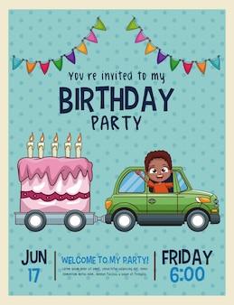 Carta di invito compleanno bambini