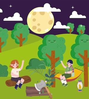 Notte in campeggio per bambini