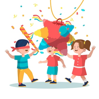 Bambini che celebrano le posadas