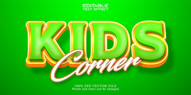 Effetto testo kids corner