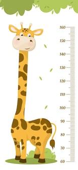 Tabella di altezza per bambini. . la misurazione della scala carina per i bambini cresce. misuratore di crescita del bambino.