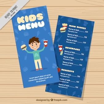 Modello di menu bambini