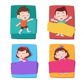 Sonno per bambini Vettore Premium