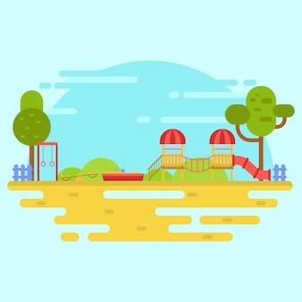 Illustrazione di vettore del parco giochi per bambini