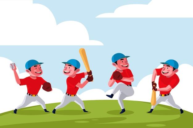 Bambini che giocano a baseball