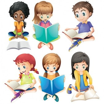 I bambini che studiano insieme