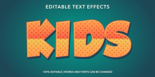 Effetto testo modificabile in stile testo per bambini