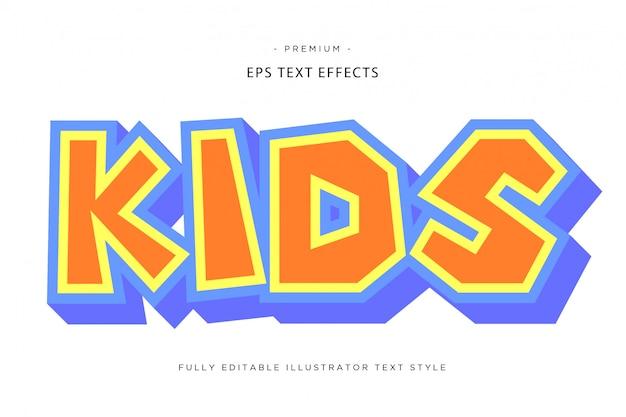 Stile di testo per bambini