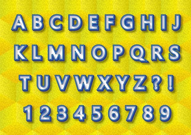 Set di numeri di alfabeti 3d per bambini giocattolo educativo