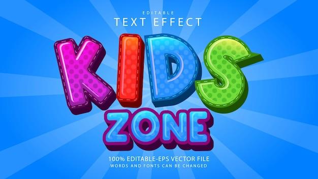 Effetto testo zona bambini