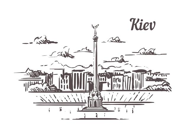 Schizzo dell'orizzonte di kiev