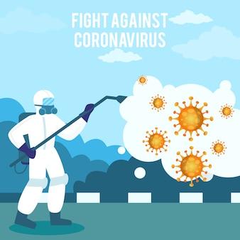 Uccidi coronavirus usando un disinfettante