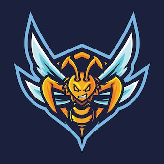 Killer bee esport logo illustrazione