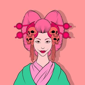 Killer geisha illustrazione