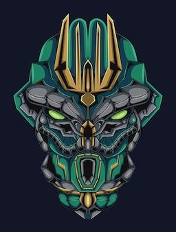 Illustrazione personalizzata della testa del robot assassino