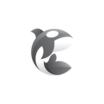 Killer whale orca logo illustration