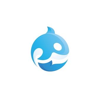 Killer whale orca logo