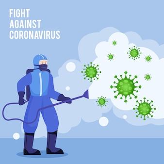 Uccidere il coronavirus con disinfettante
