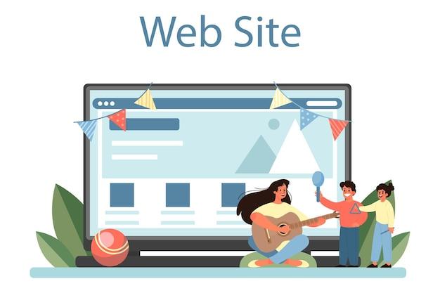 Servizio online kindergartener o piattaforma professionale nany e bambini