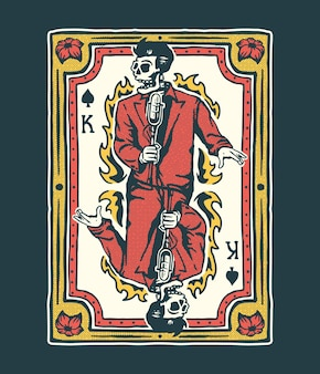 Illustrazione della carta del re