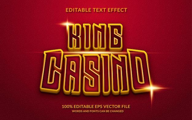 King casino effetto testo modificabile