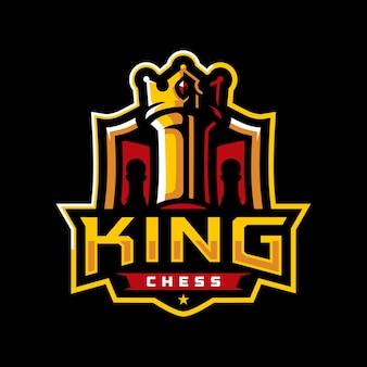 Logo sportivo di king chess