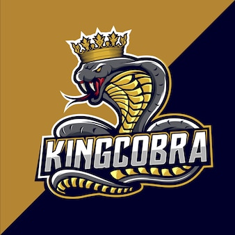 Logo design cobra esport king
