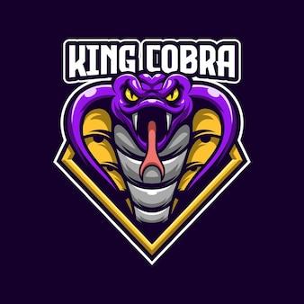 Modello di logo di king cobra esports
