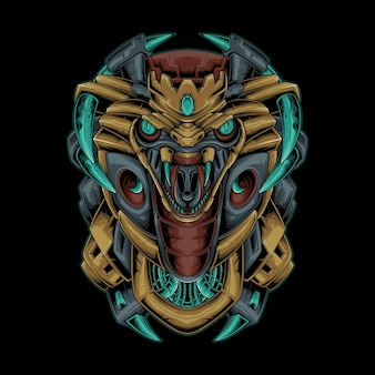 King cobra mecha vector illustration