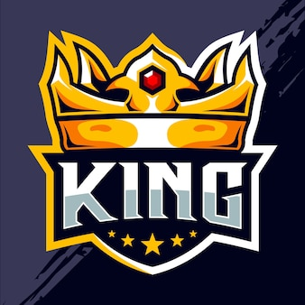 Design del logo di king crown esport