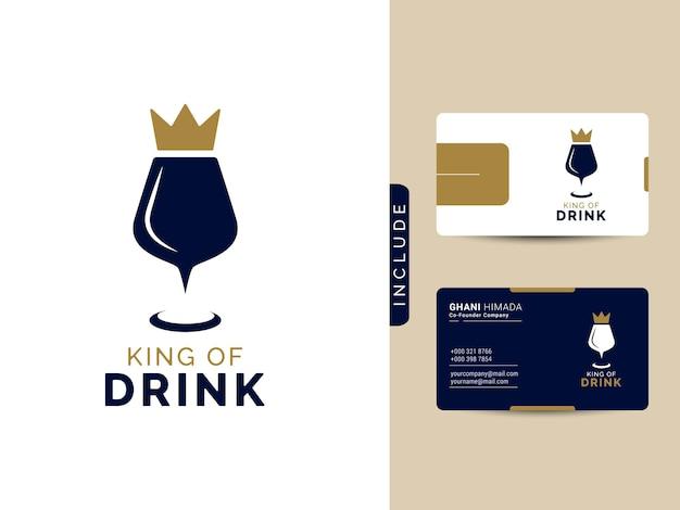 King of drink logo design concept