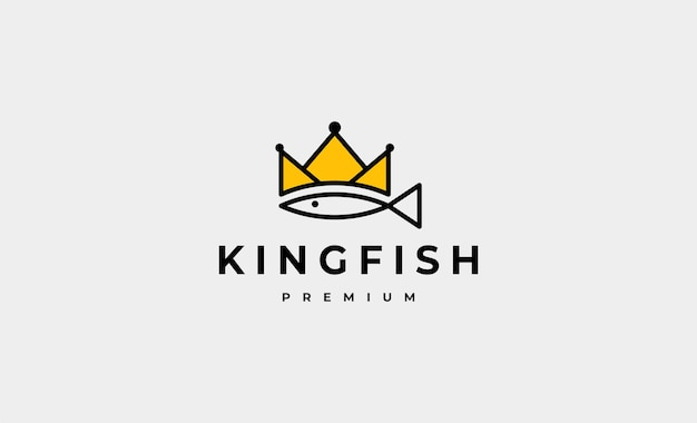 King fish logo design vector illustration