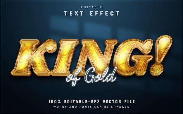 Effetto testo oro re modificabile