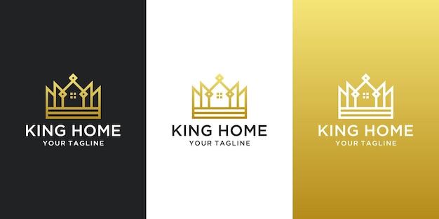Ispirazione per il design del logo della casa di re