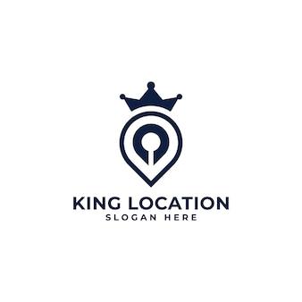Modello di logotipo di posizione del re
