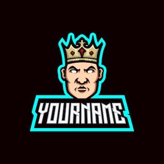 Modelli del logo della mascotte del re
