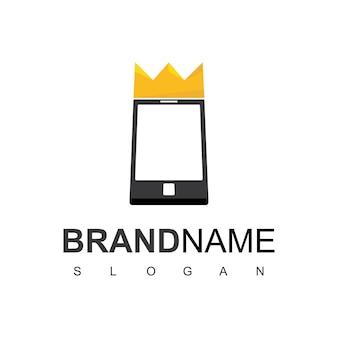 Ispirazione per il design del logo del telefono king