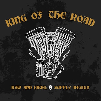 King of the road design illustration