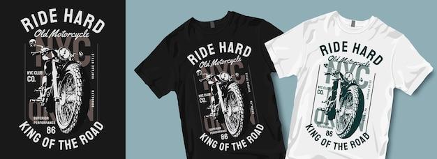 Merce di design per magliette king of the road