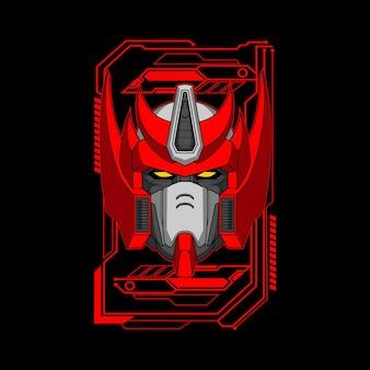 Illustrazione della testa del robot re
