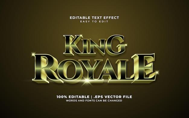 Effetto di testo king royale Vettore Premium
