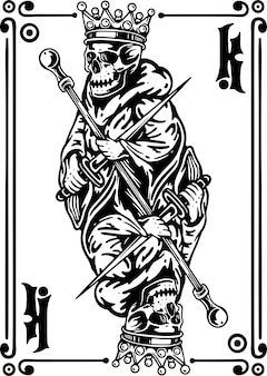 Carta da gioco king skeleteon