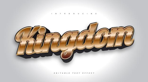 Effetto di testo modificabile del regno in nero e oro