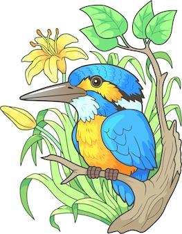 Illustrazione dell'uccello del martin pescatore